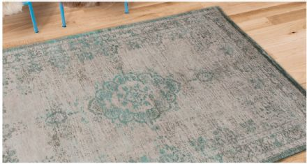 Louis De Poortere Fading World Collection Rug - Medallion Jade Oyster 8259